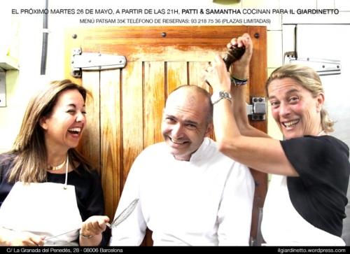 Cena  especial en il Giardinetto a cargo de Patty&Samantha